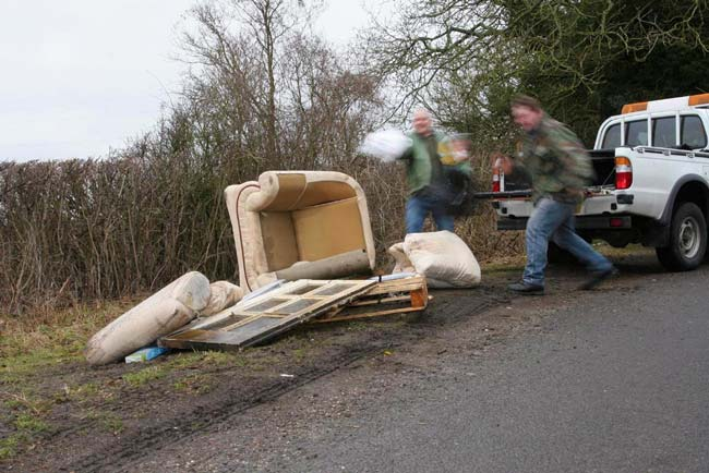 Don't feed the fly-tippers!